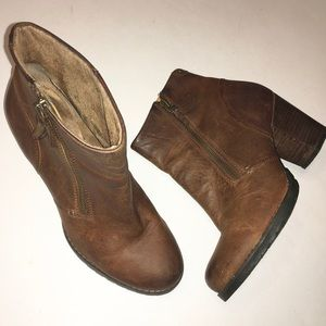 CKARKS Indigo brown leather ankle boots